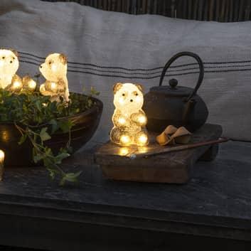 Figurine LED Panda, kit de 5 en chaîne