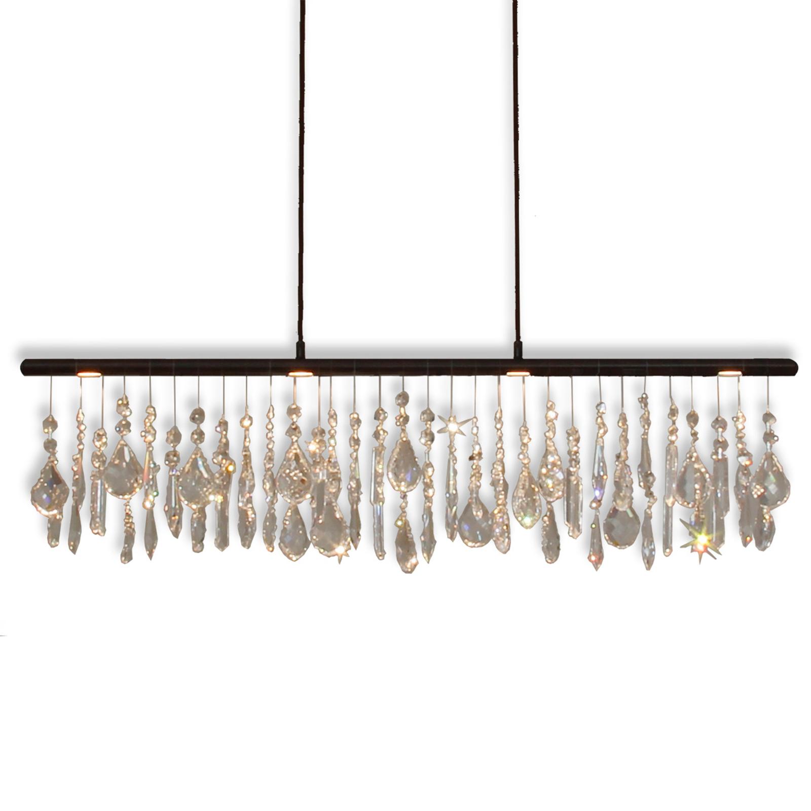 Anteo – lampa wisząca LED, kryształowe ozdoby