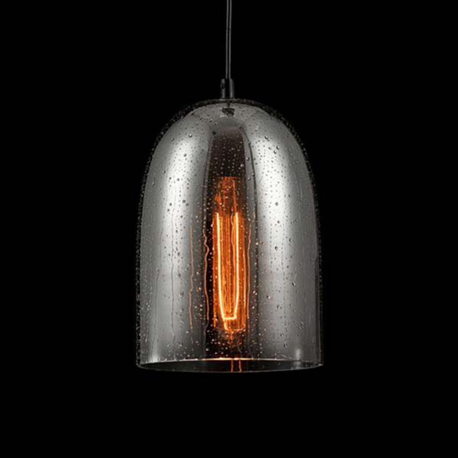 Glas-hanglamp bergen met regeneffect Ø 17,5cm