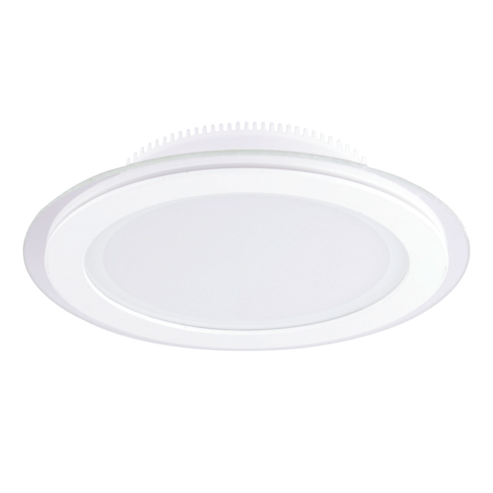LED-Einbaustrahler Kuro mit IP44 in Weiß