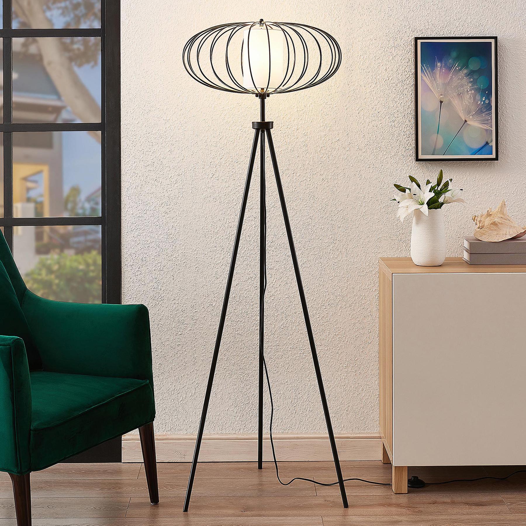 Lindby Korbinian lampadaire avec support trépied