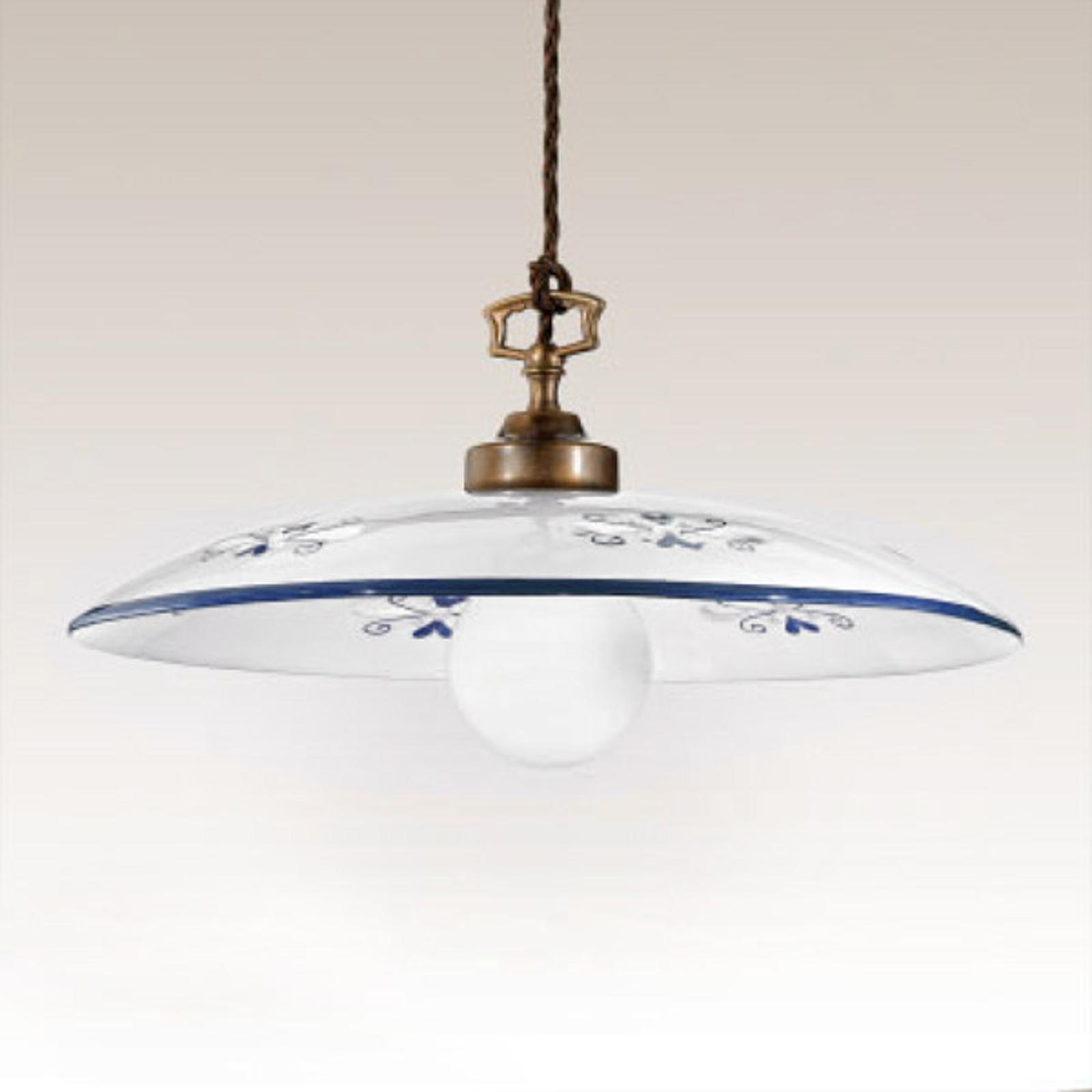 Gustowna lampa wisząca Bassano niebieska