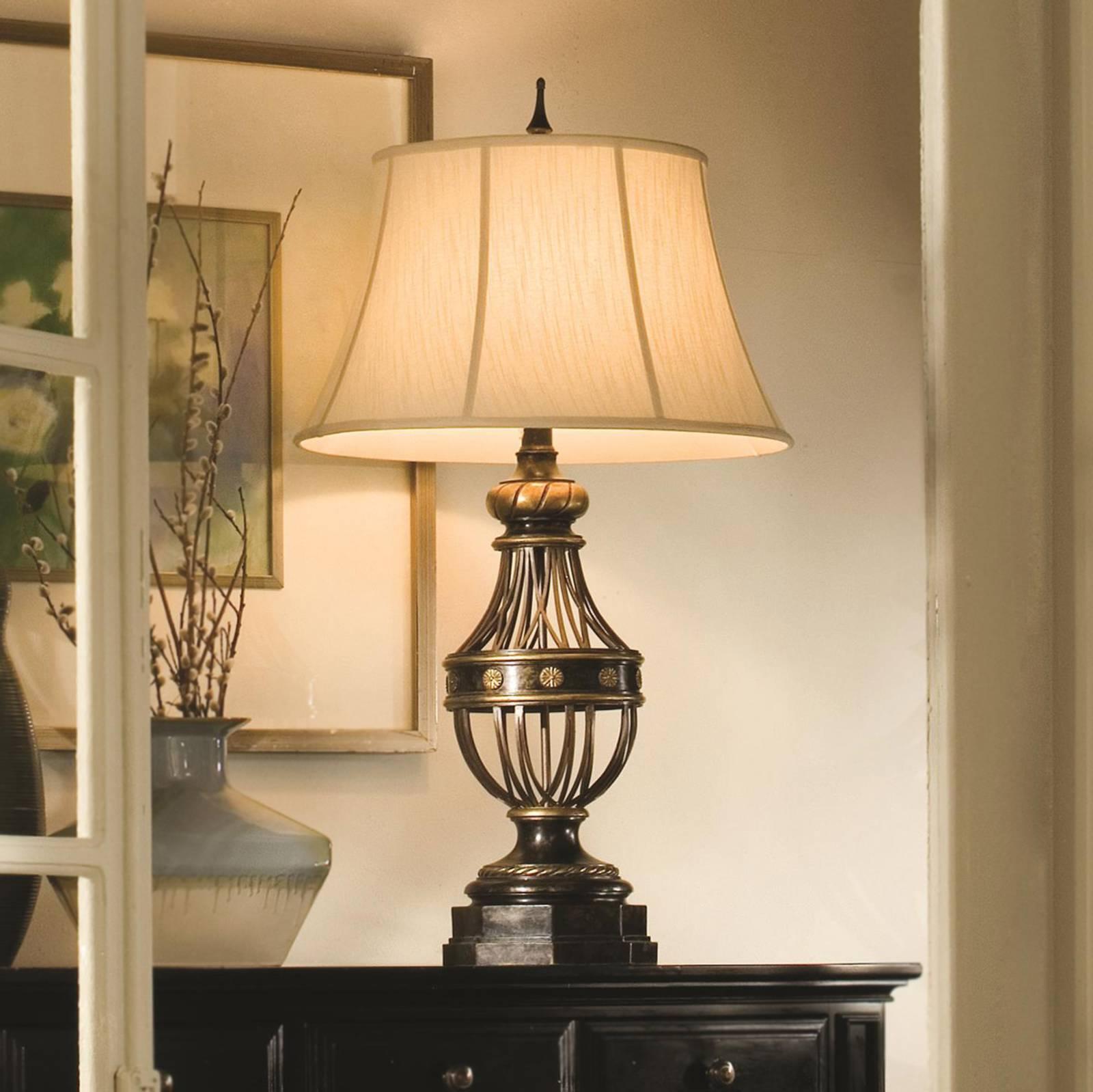 Zacht glanzende tafellamp Augustine