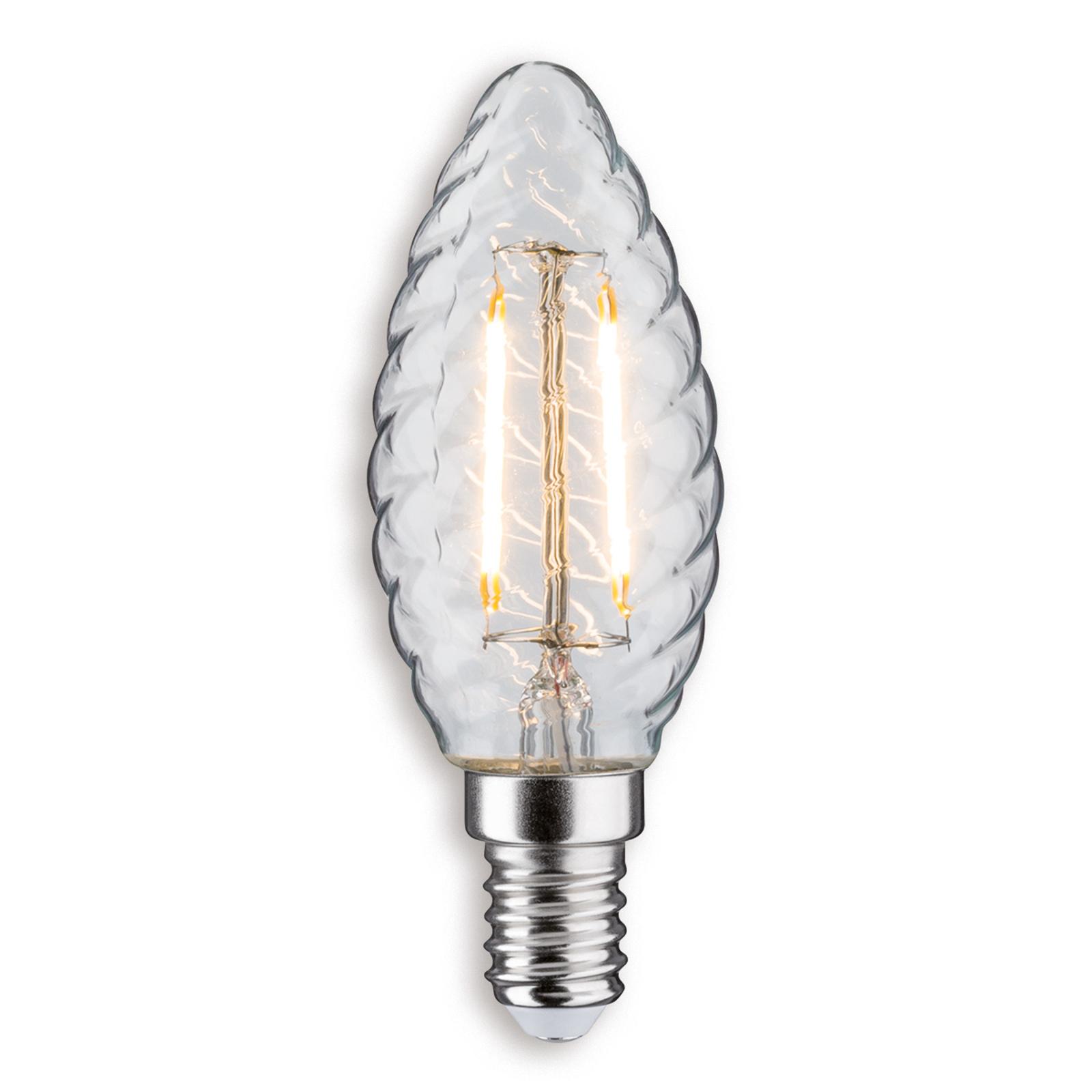 Paulmann E14 2,6W 827 LED-Kerzenlampe gedreht klar