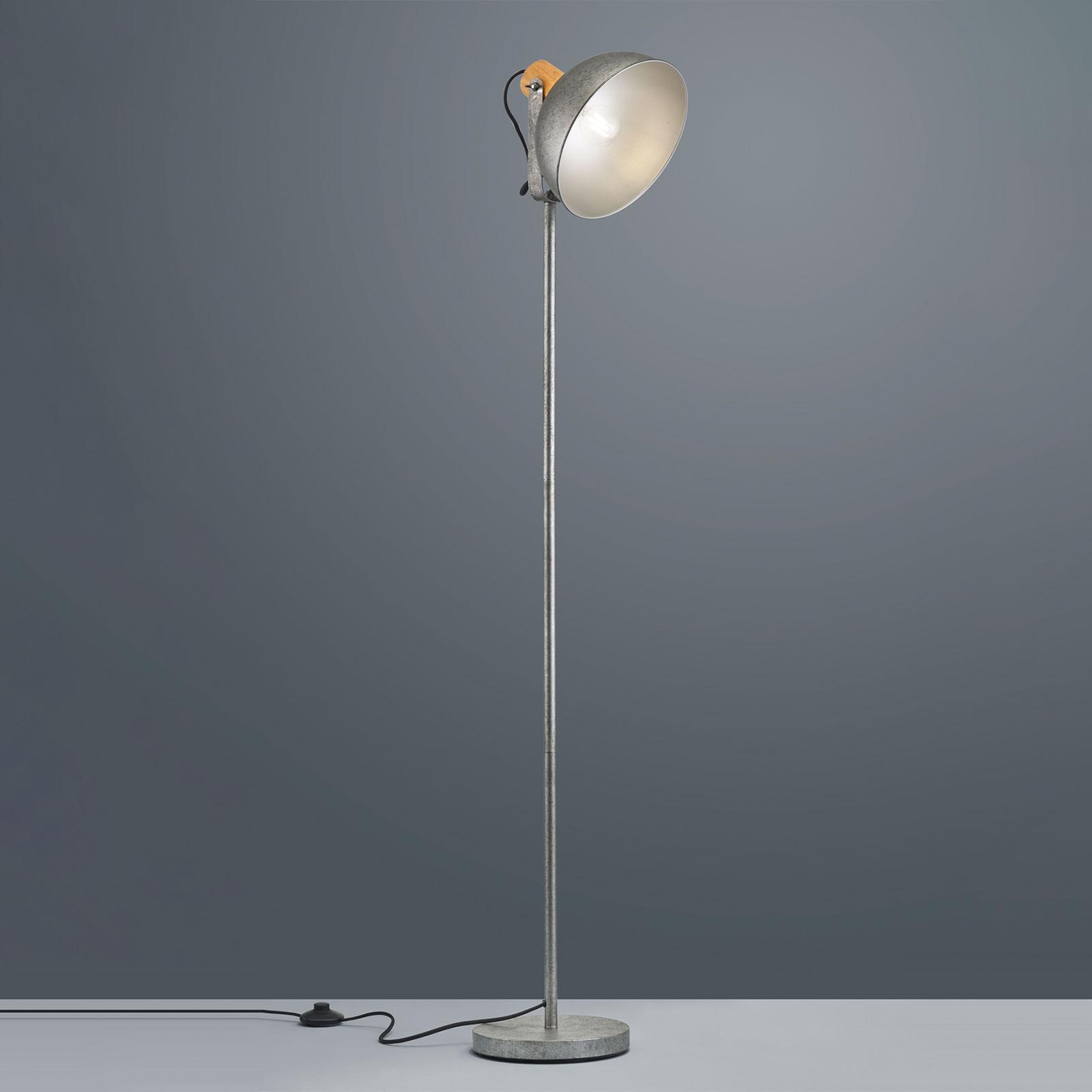 Lampa podłogowa Delhi z metalową podstawą