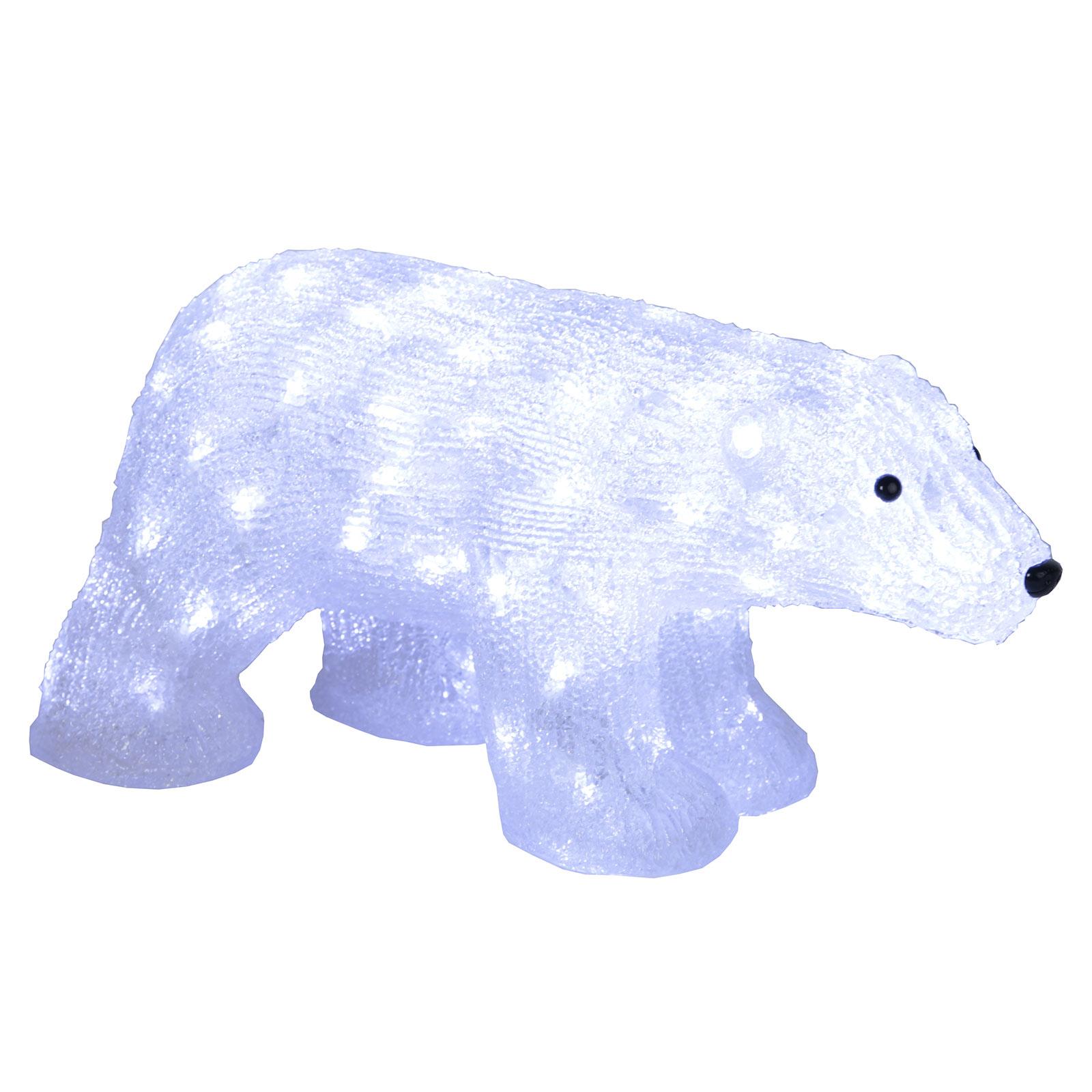 LED-Figur Crystalo Eisbär für außen Länge 65 cm