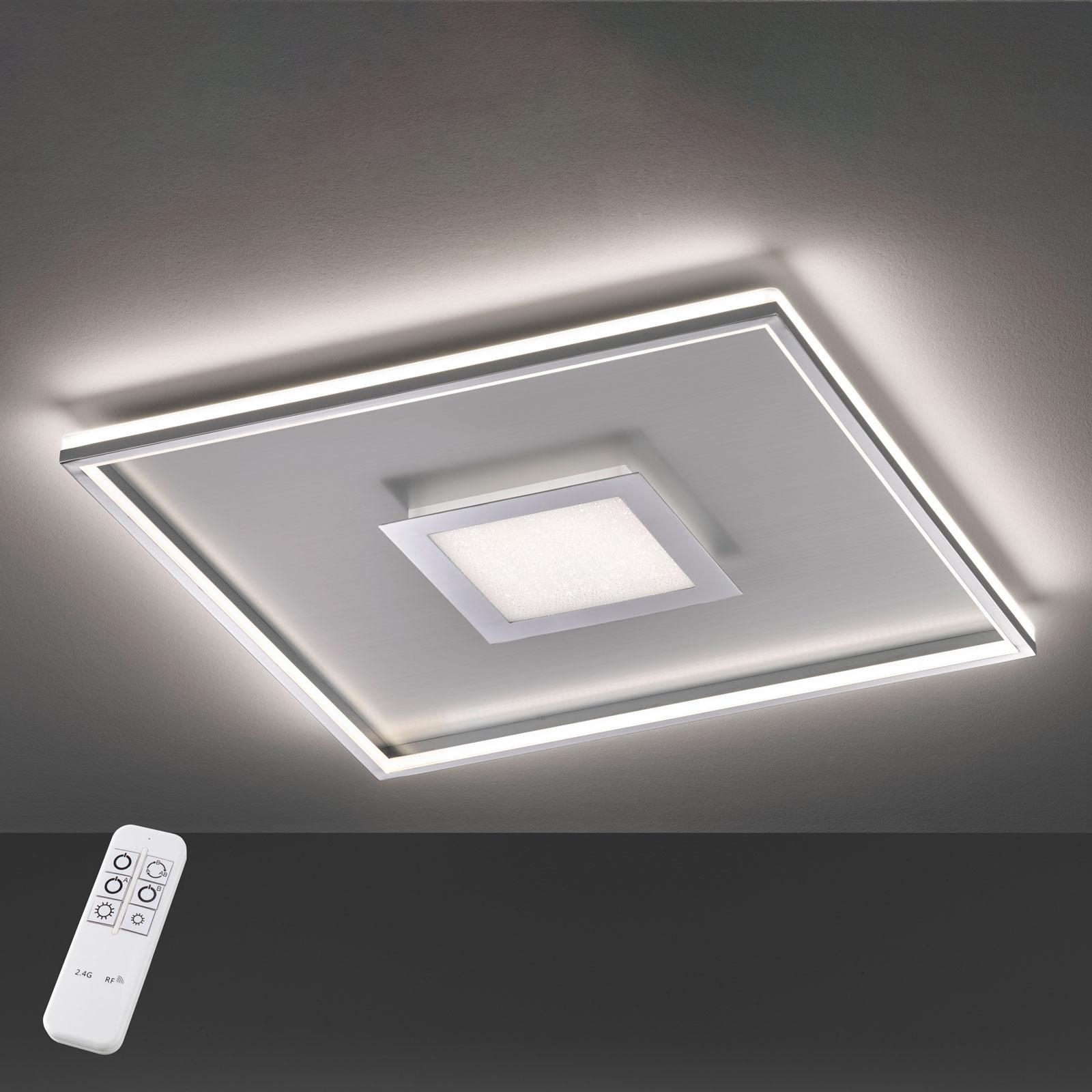 LED-taklampe Bug kvadratisk, krom 40x40 cm
