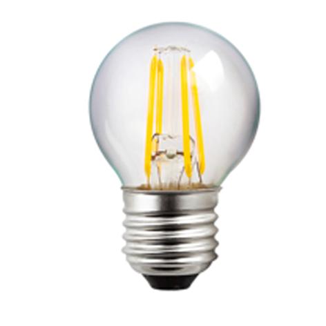 LED-pære E27 G45 4 W Filament klar 827 dimbar