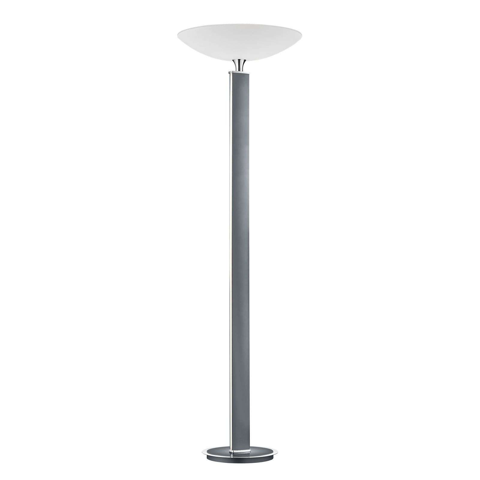 BANKAMP Pure F LED-uplight-golvlampa, antracit