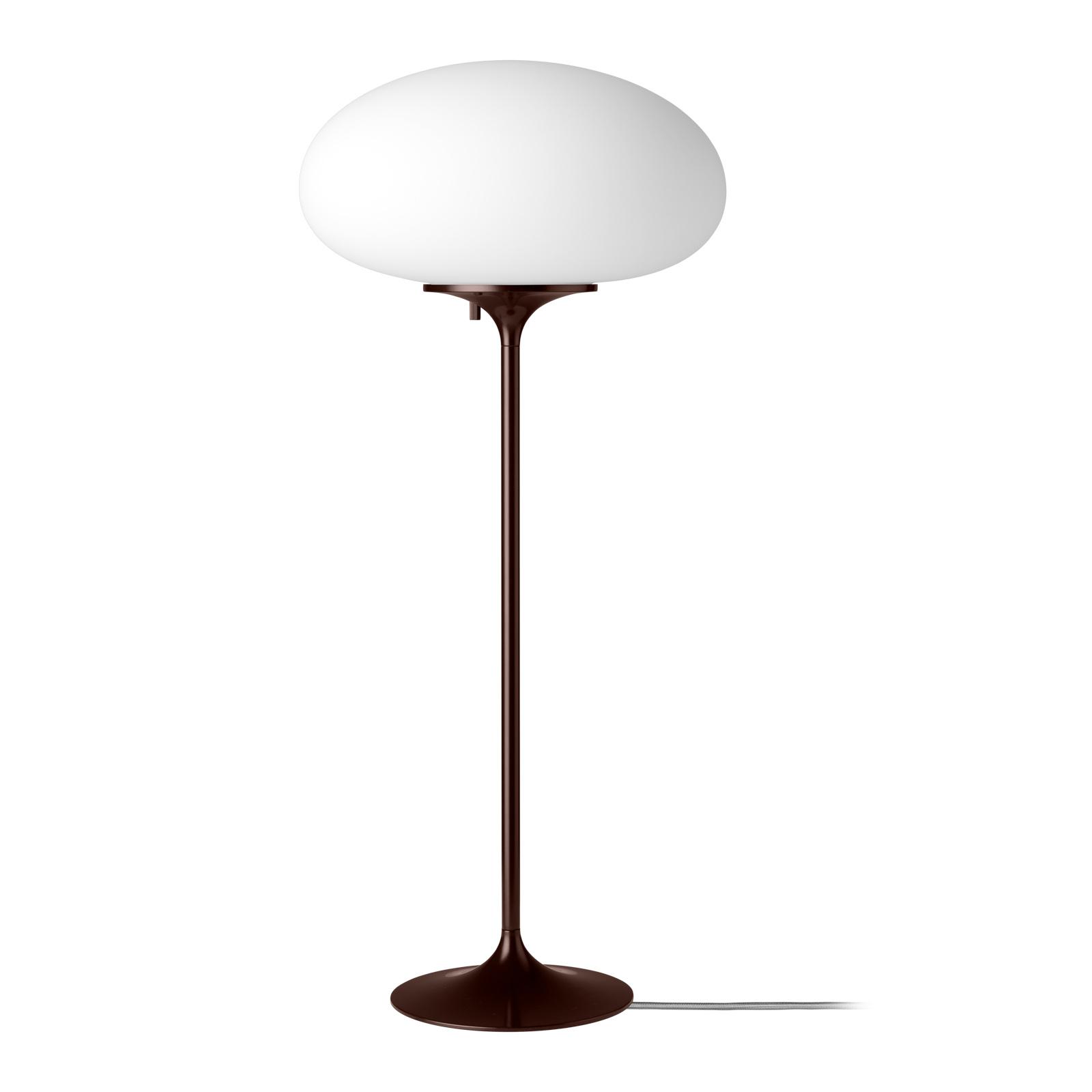 GUBI Stemlite Tischleuchte, schwarz-rot, 70 cm