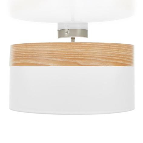Deckenlampe Libba mit Dekor in Holzoptik