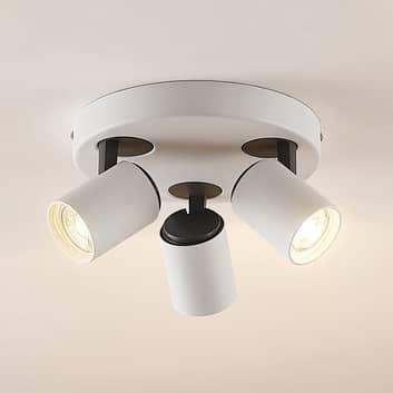 Lindby Ninette -spottiplafondi 3-lamppuinen pyöreä