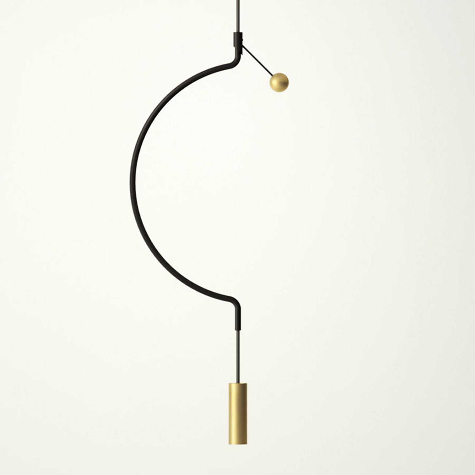 Axolight Liaison P1 Pendellampe schwarz/gold 32cm