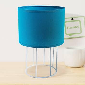 Lámpara de mesa Carla S, azul