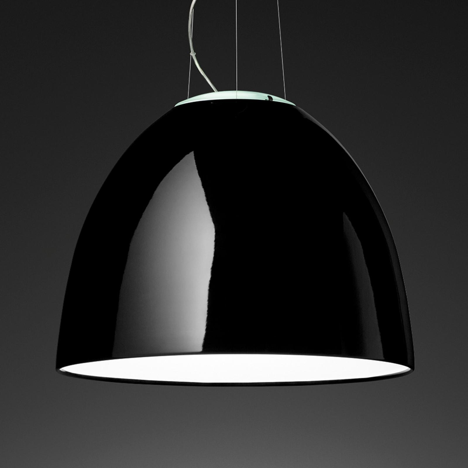 Artemide Nur Gloss lampa wisząca czarna