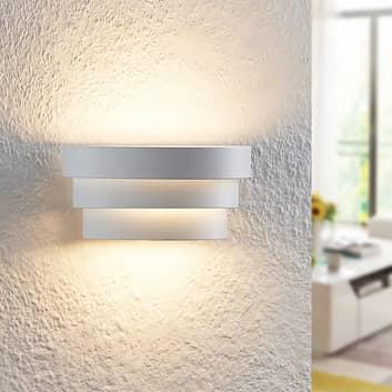 Arcchio Harun LED-væglampe i hvid, 18 cm