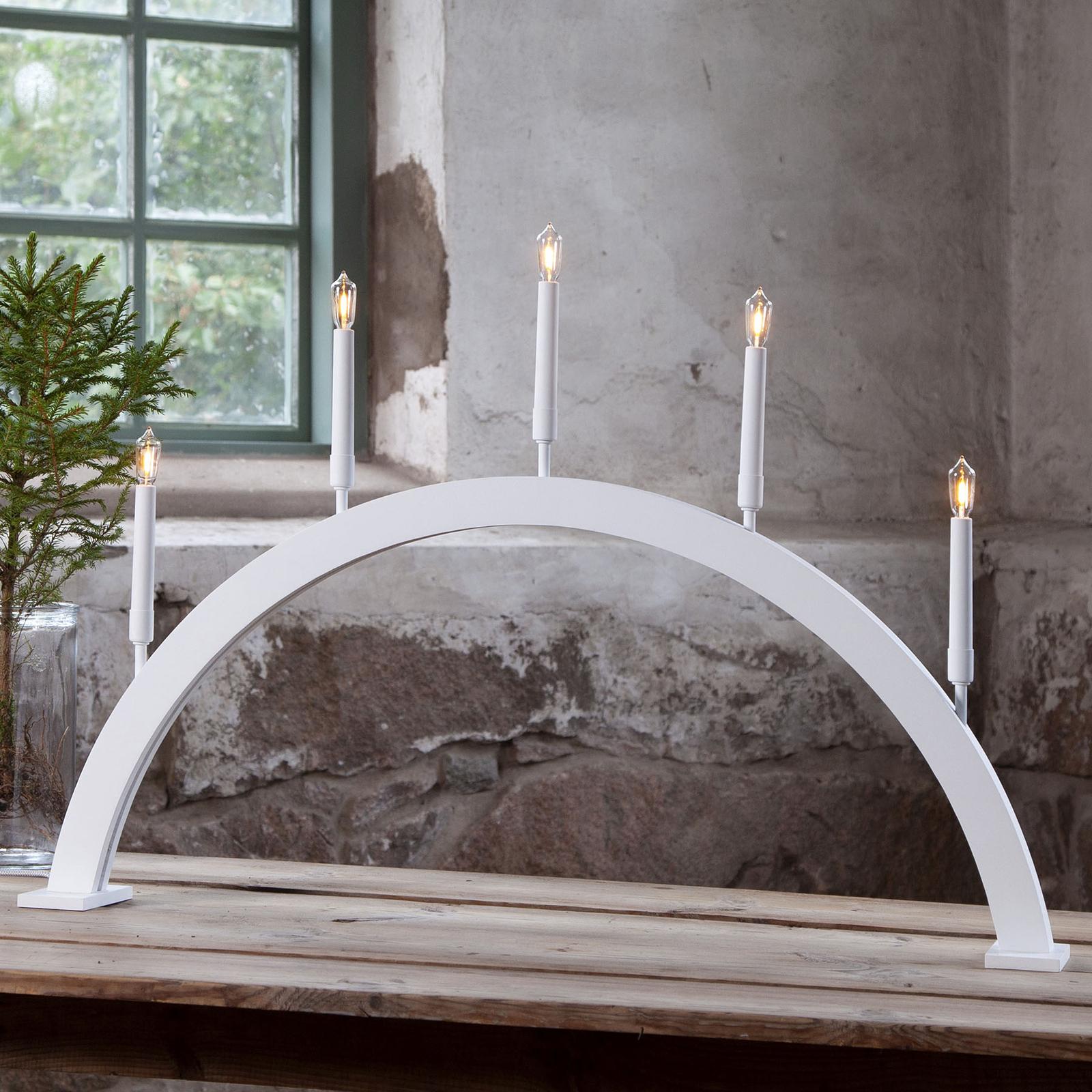 Raam kandelaar Storm 5-lamps 59 cm wit
