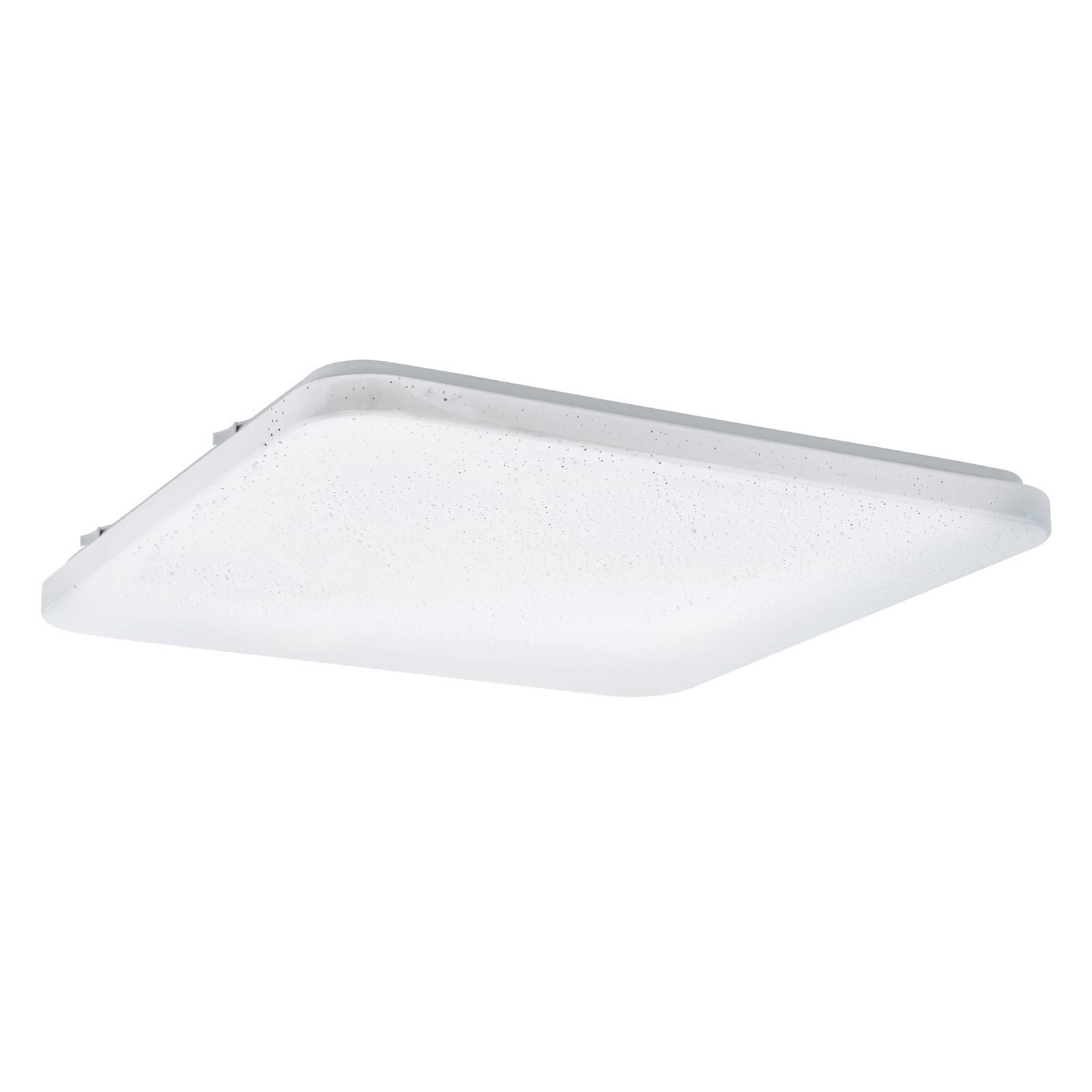 LED plafondlamp Frania met kristalleffect, hoekig