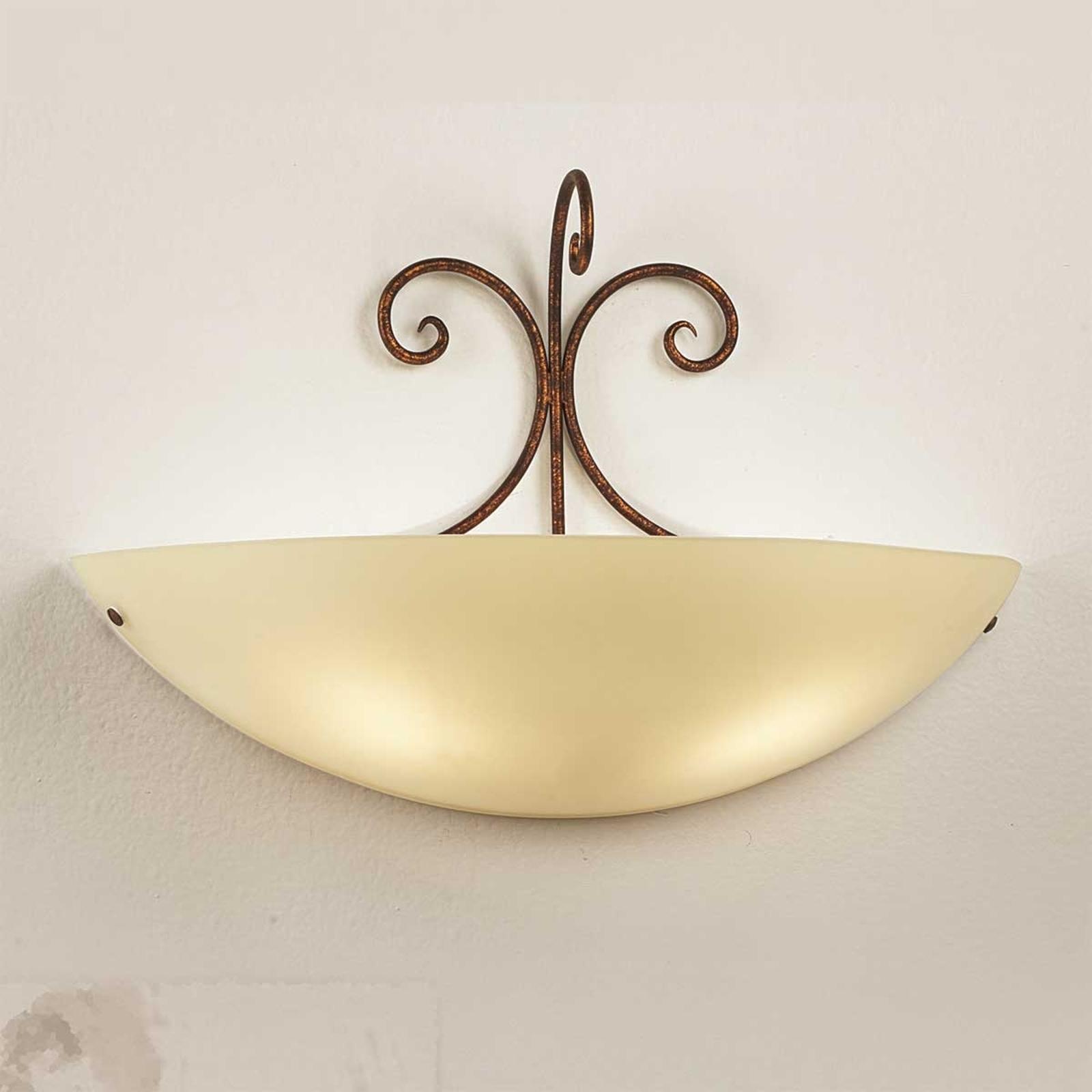 Federico wandlamp van antiek bruin metaal