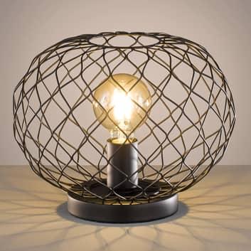 Lámpara de mesa Justin con pantalla trenzado metal