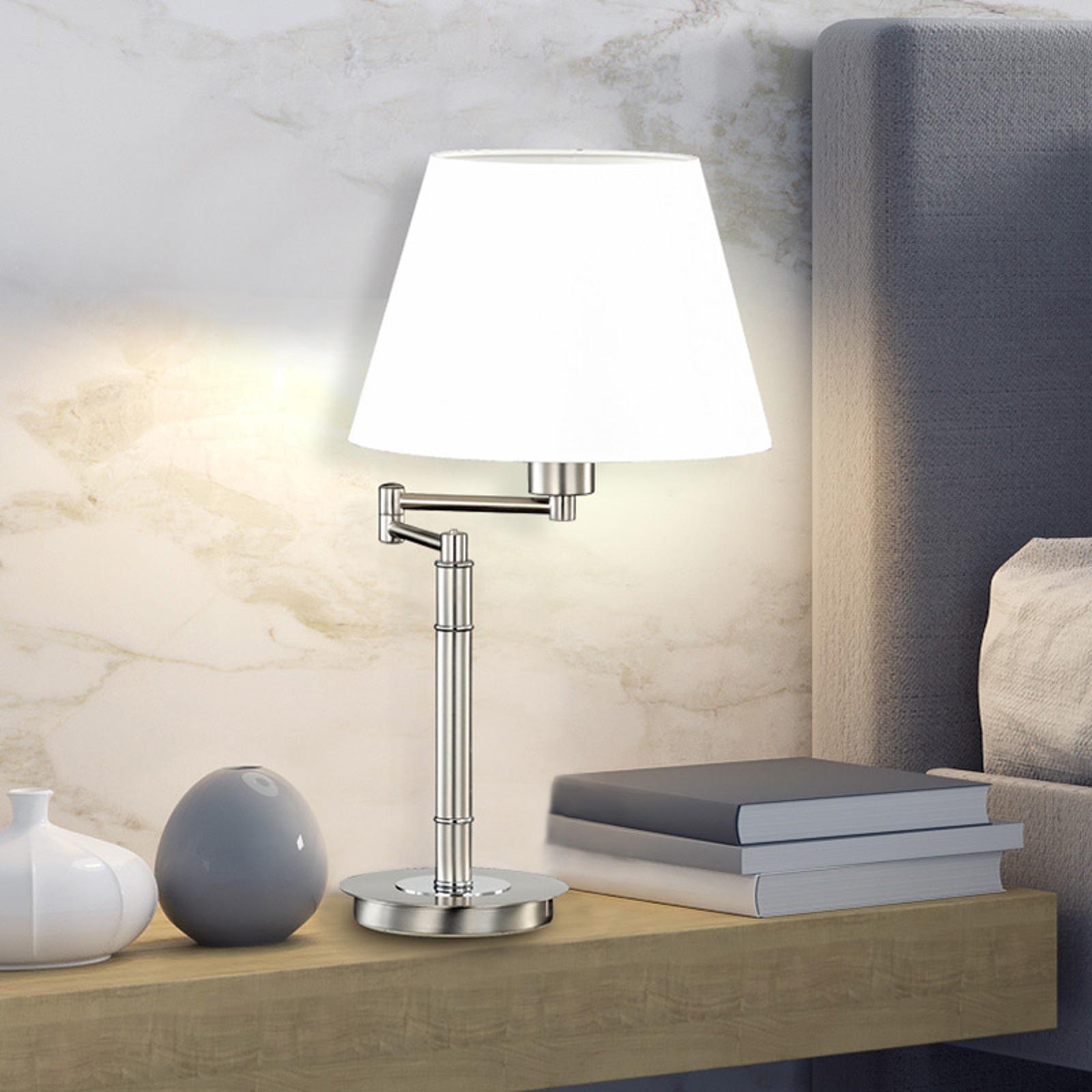 Art Bordlampe Krom E27 uskjerm IP 20   Lampebord
