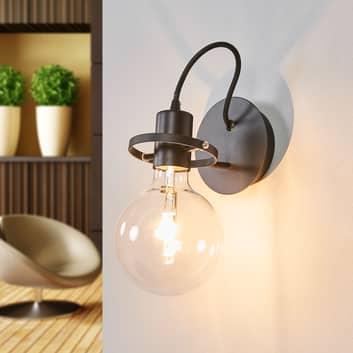 Design-wandlamp Radio in zwart