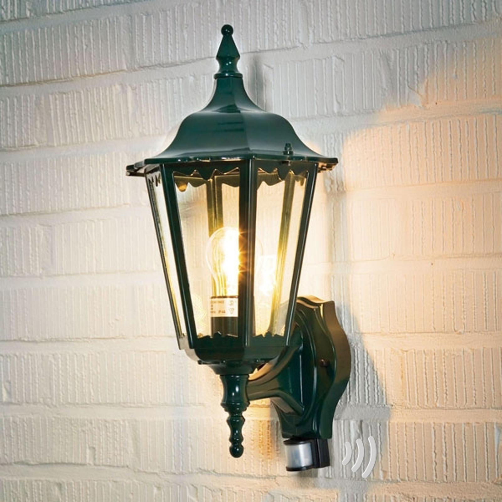 Buitenwandlamp Firenze, sensor, staand, groen