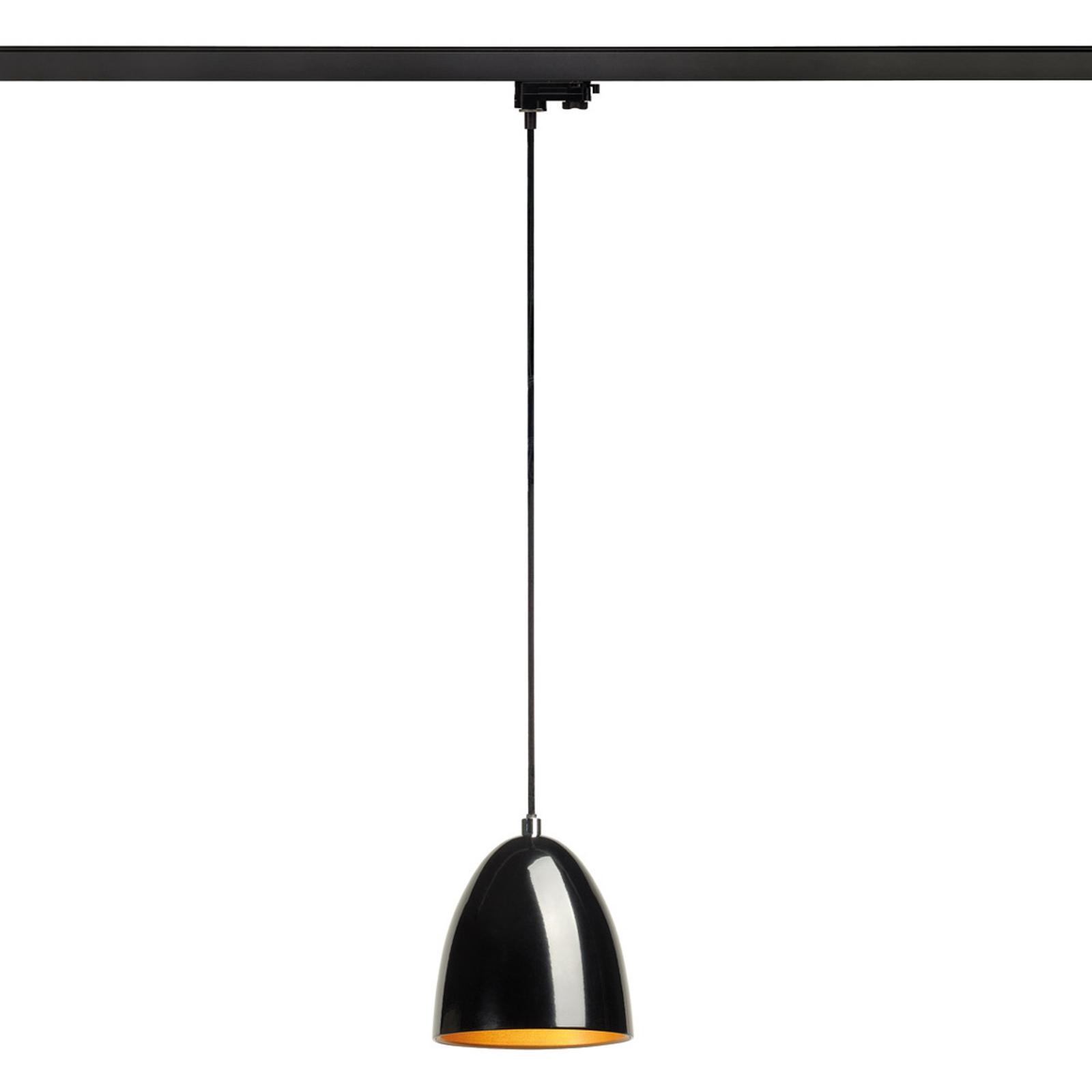 SLV Para Cone lampa wisząca 3-fazowa, czarny/złoty