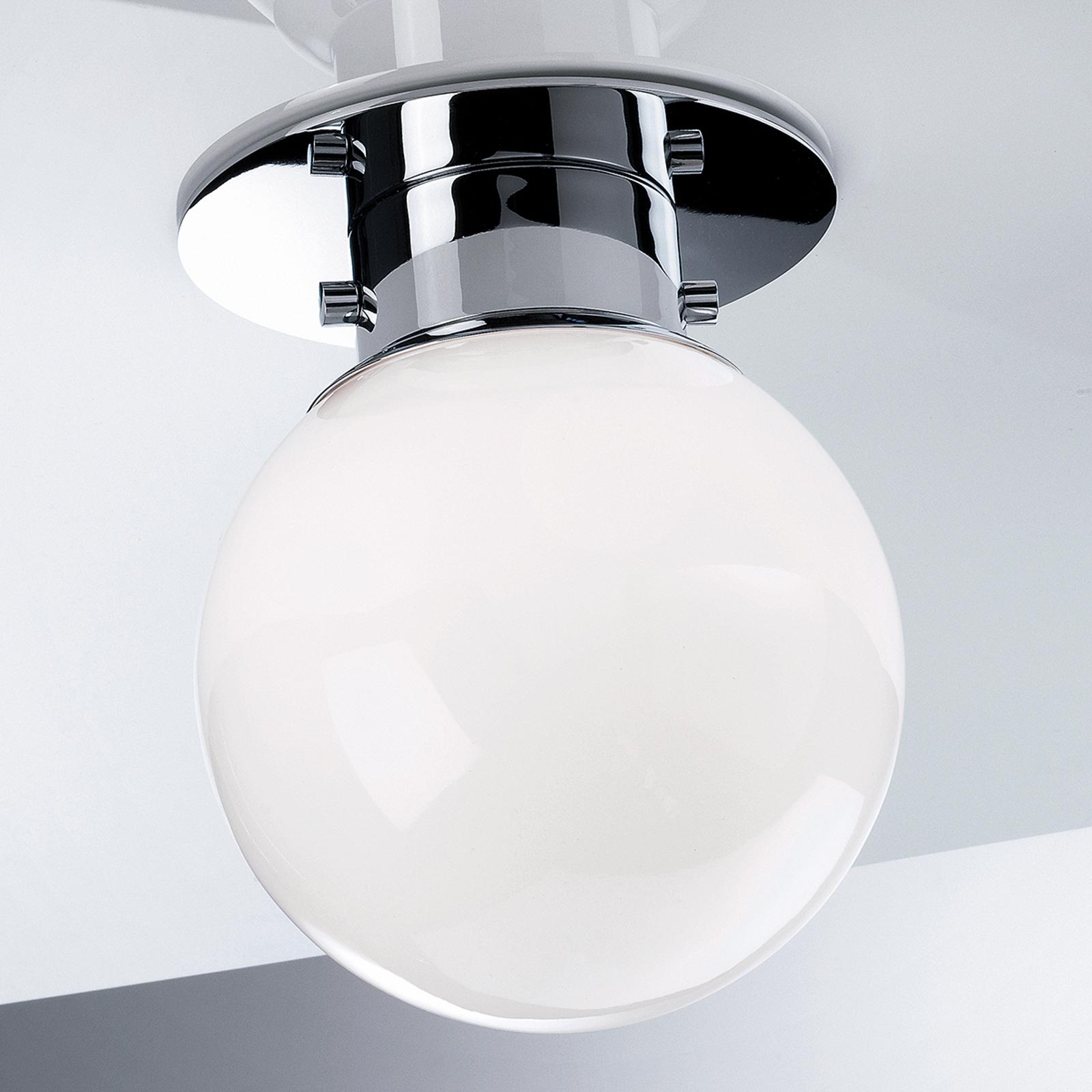 Klassieke bolvormige plafondlamp GLOBE, chroom