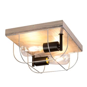Envolight Neptuna lampa sufitowa, kwadrat, 2-pkt.