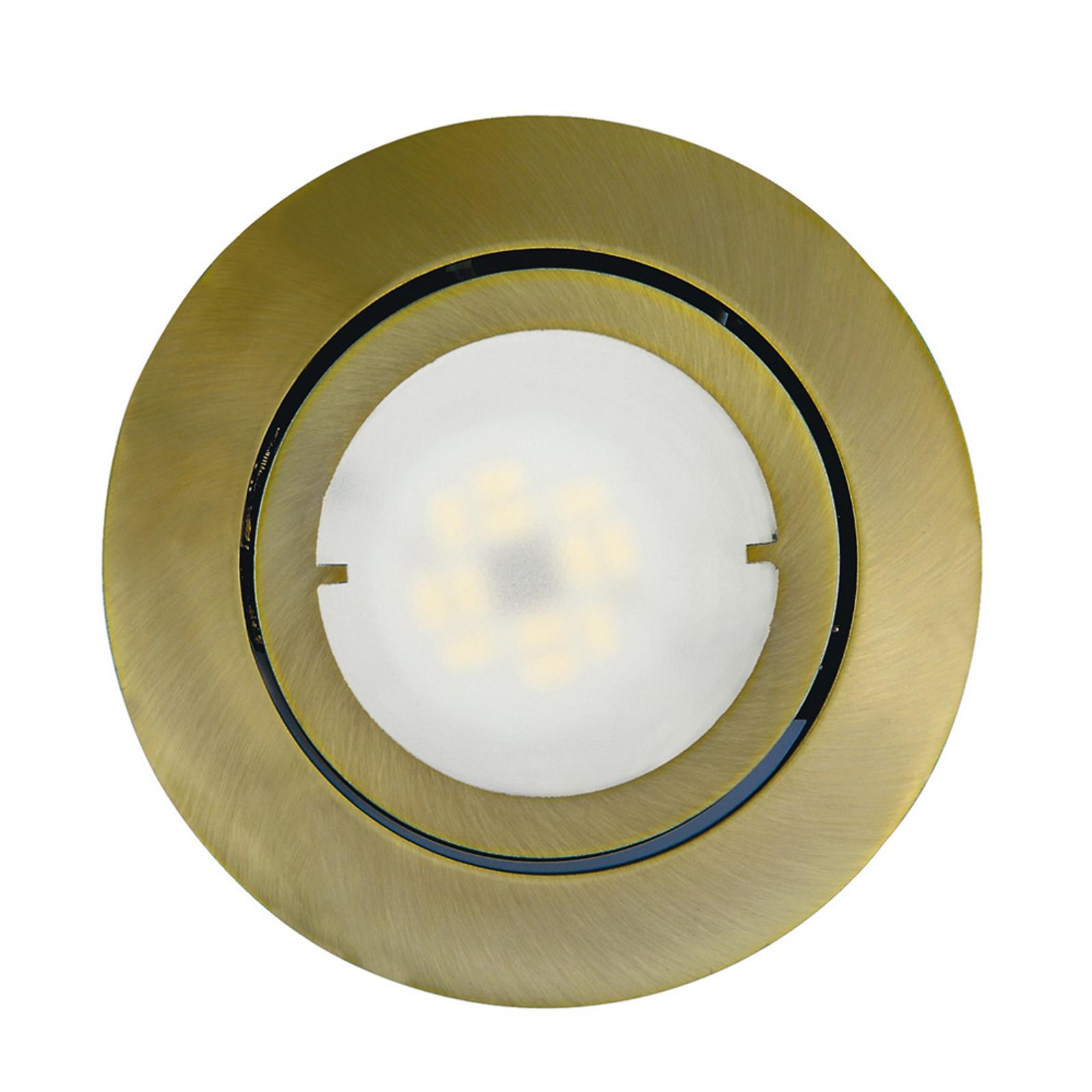 Schwenkbare LED-Einbauleuchte Joanie, altmessing