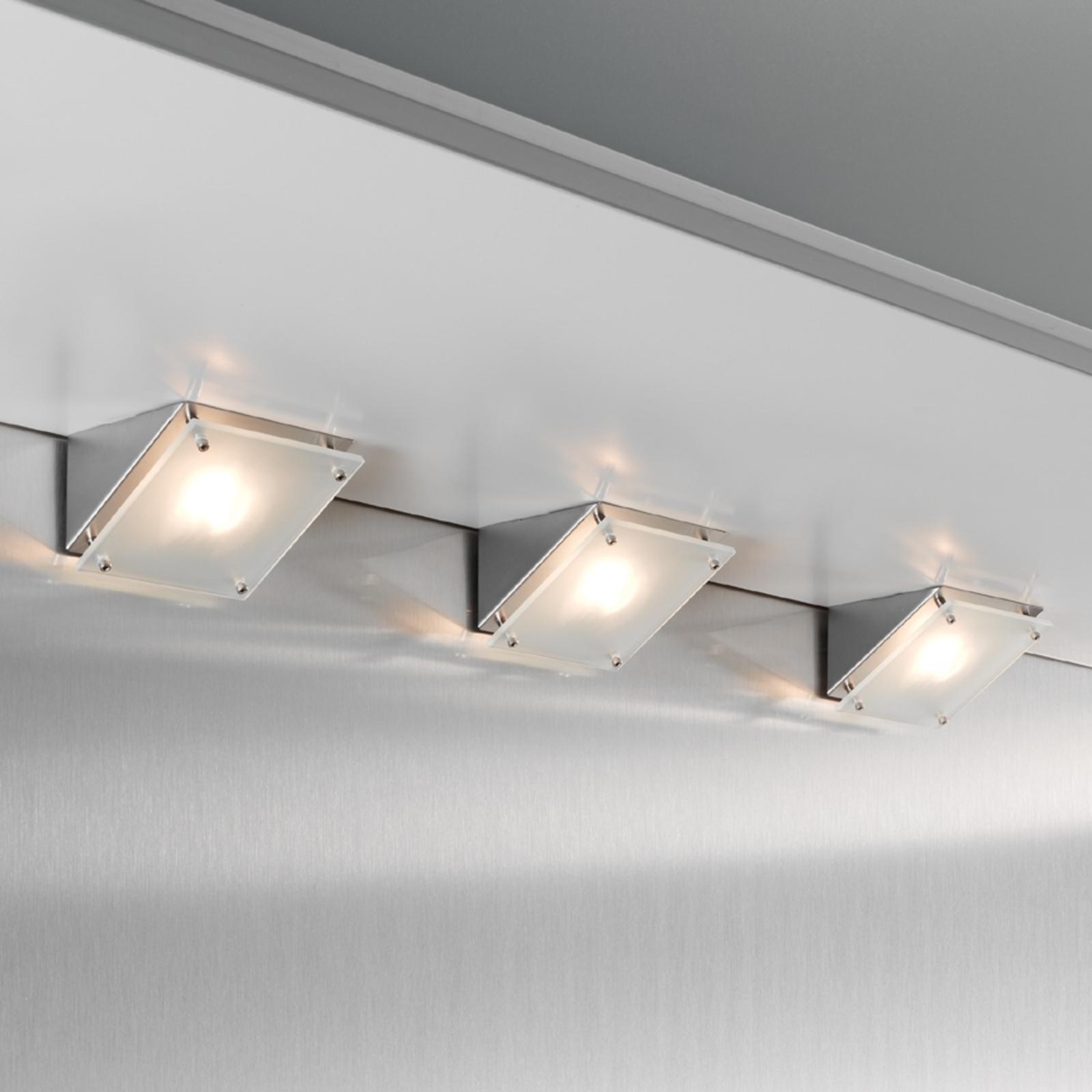 Lámpara halógena bajo mueble SHINE, set de 3 unid.