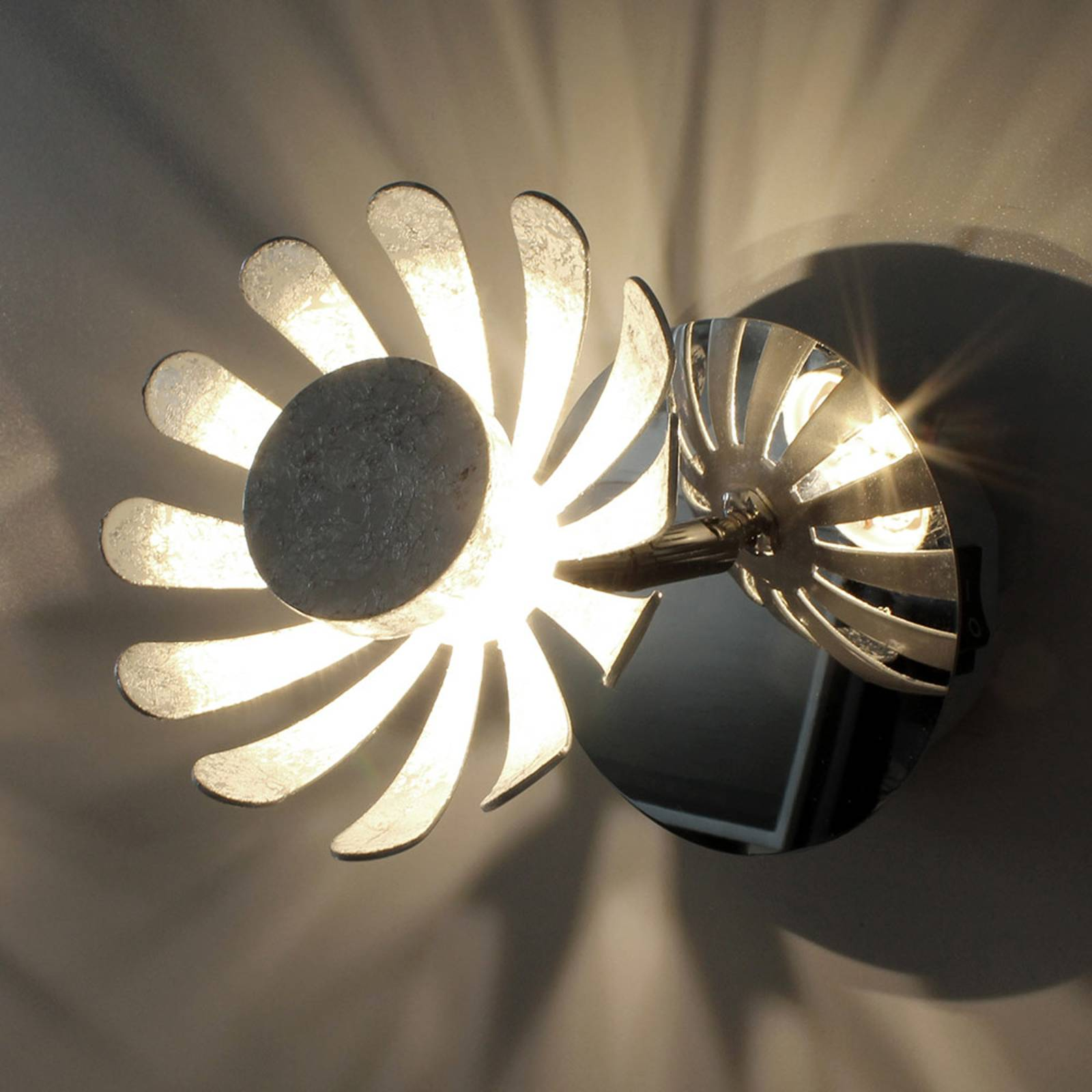 LED wandlamp Bloom zilver