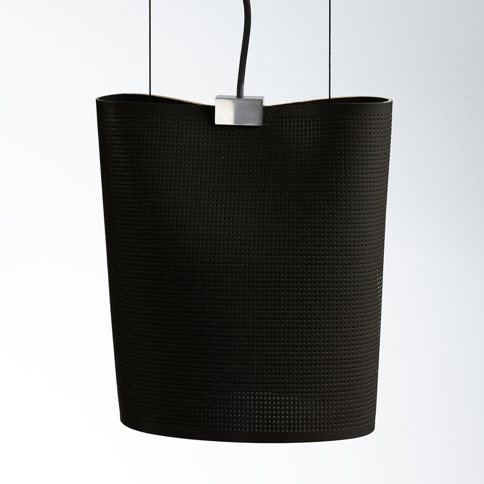 Suspension Sarto en cuir véritable, noire