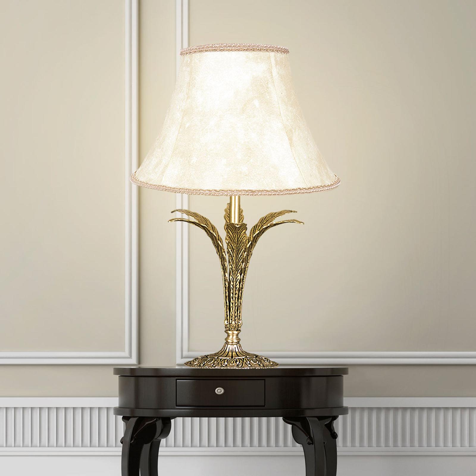 Lampe à poser Palmera, doré ancien, à 1 lampe