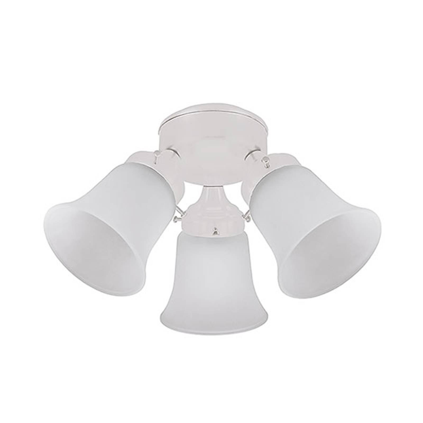 Lampe til loftventilatorer Hunter, hvid