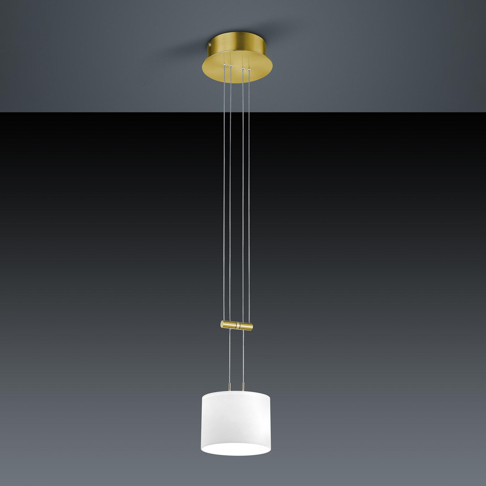 BANKAMP Grazia lampa wisząca ZigBee 16cm mosiądz