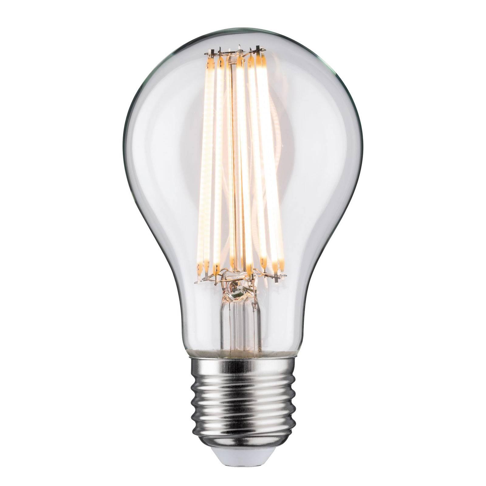 LED E27 11,5W filamenti 2.700 K, trasparente