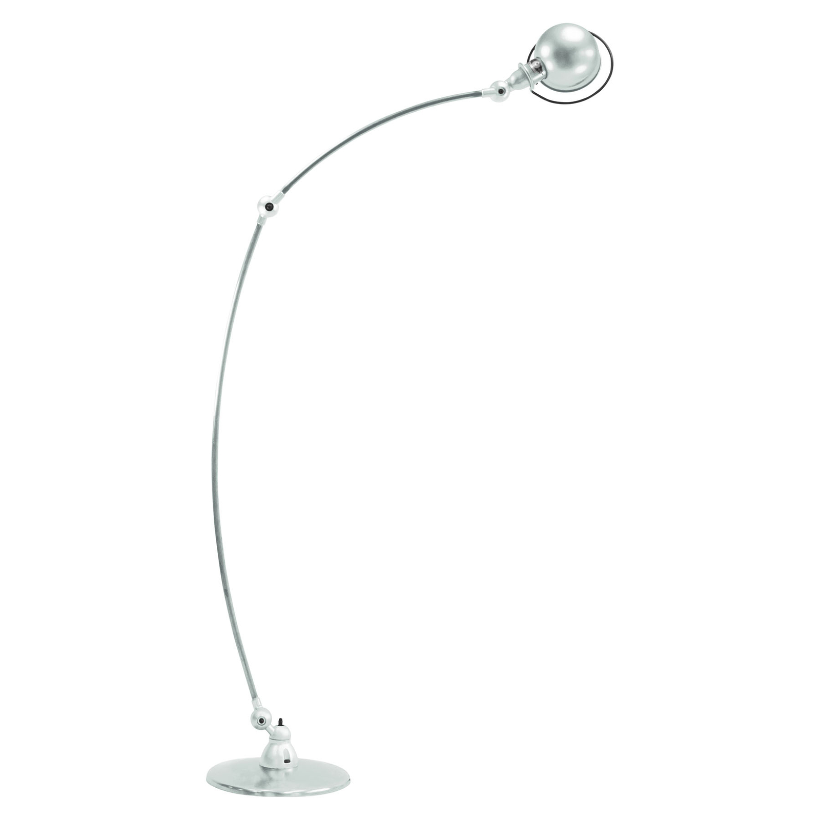 Jieldé Loft C1260 boogvloerlamp, wit