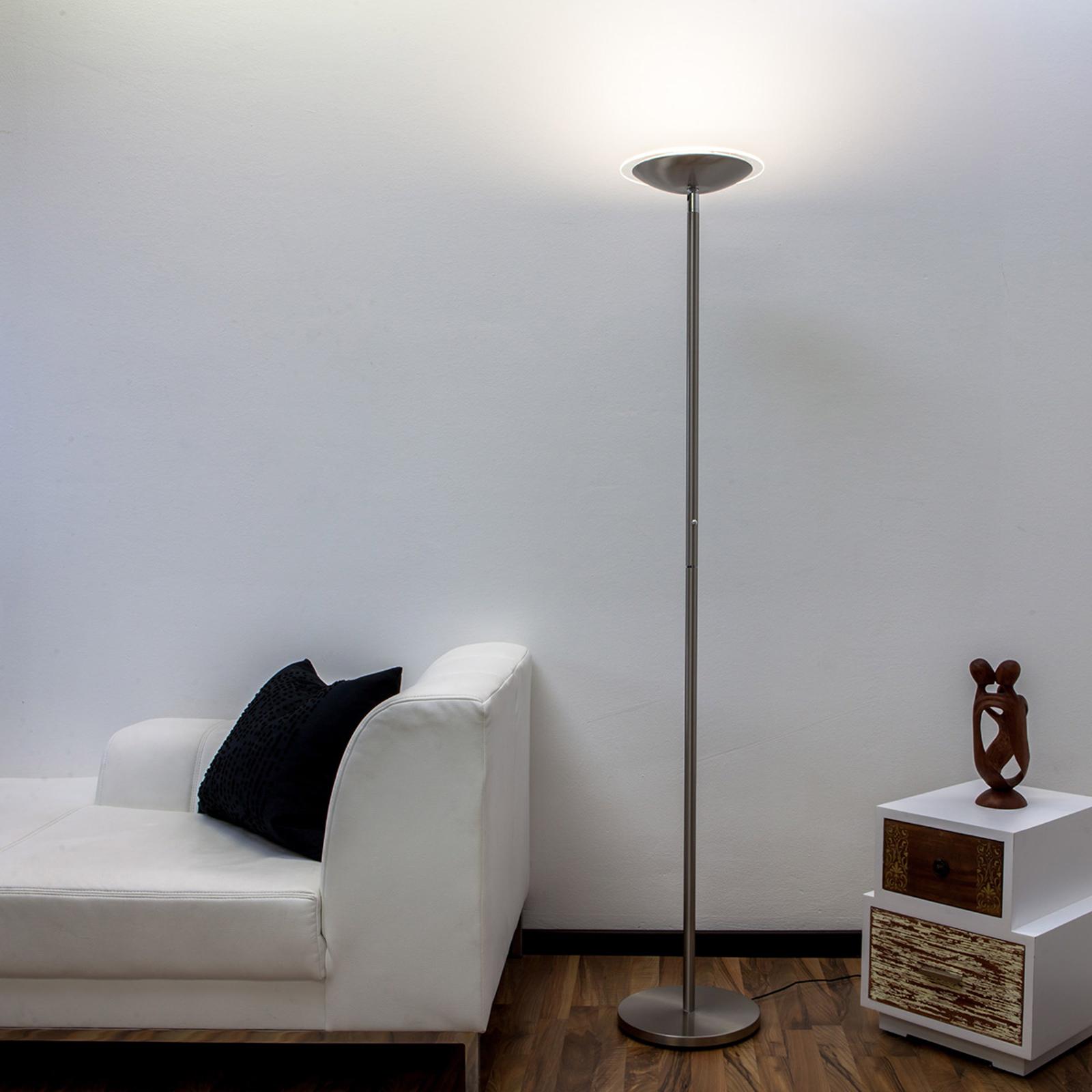 Malea - LED-uplight lampe, nikkel matt