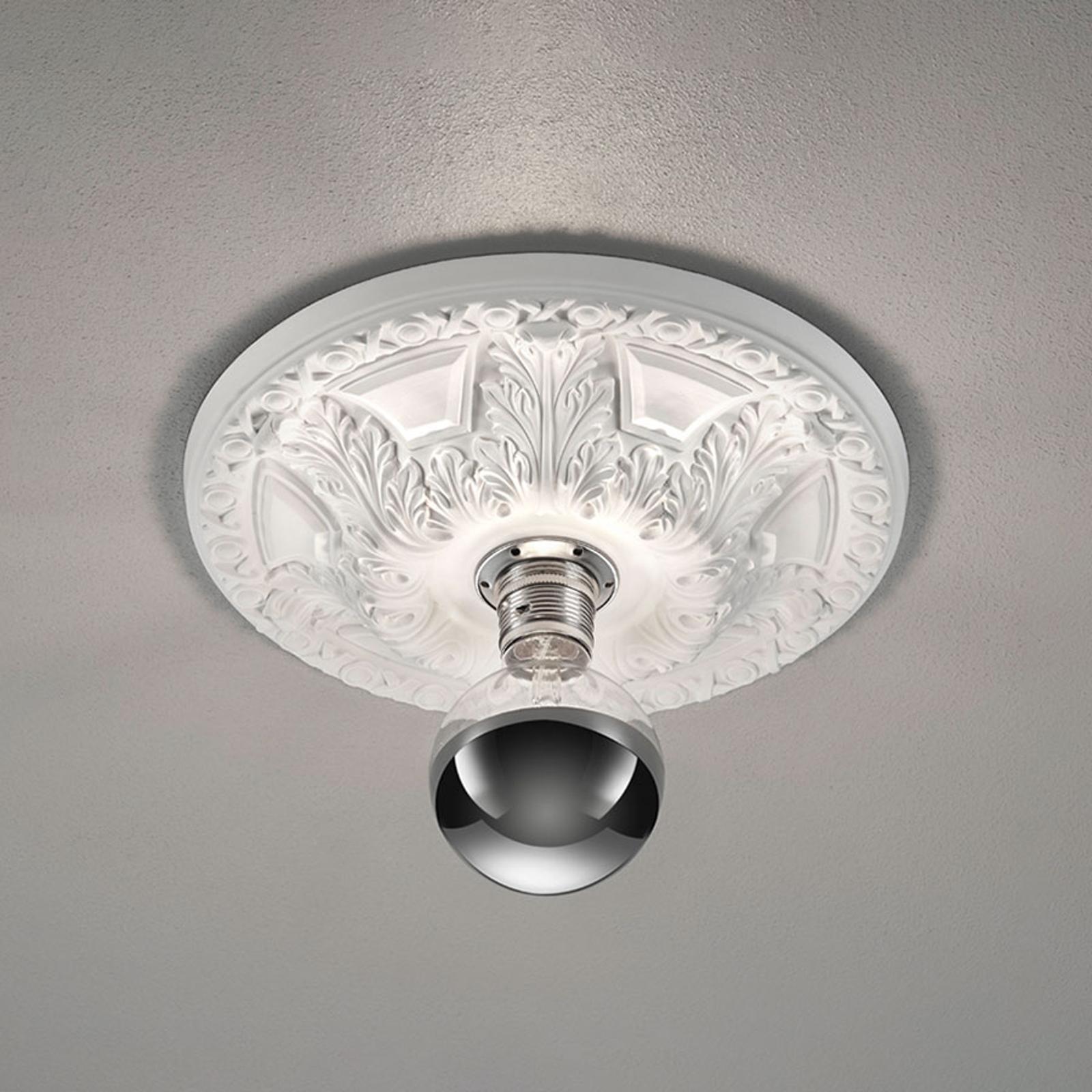 Lampa sufitowa Lilly, gips, stiukowa Ø 30 cm
