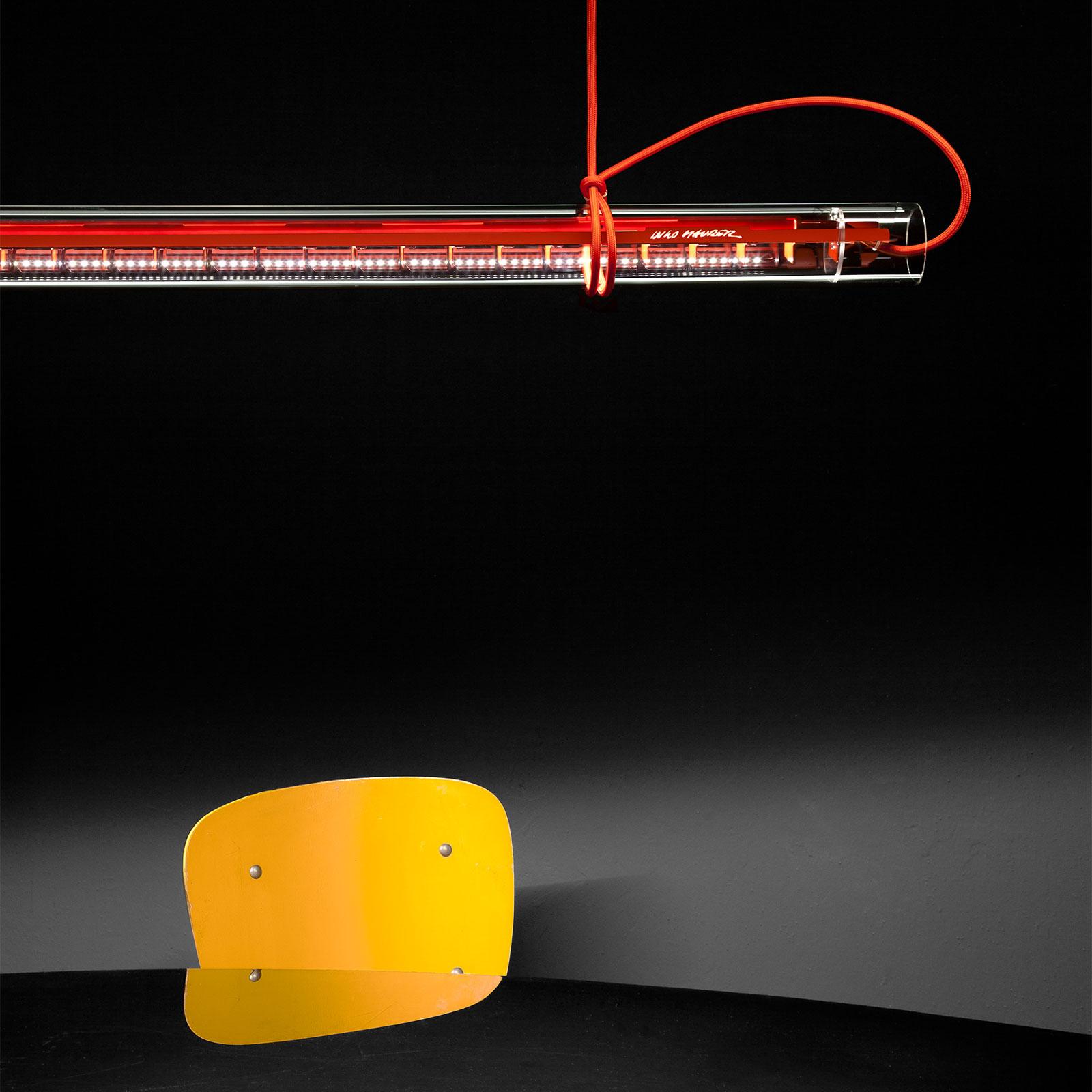 Ingo Maurer Tubular lampa wisząca LED, czerwona