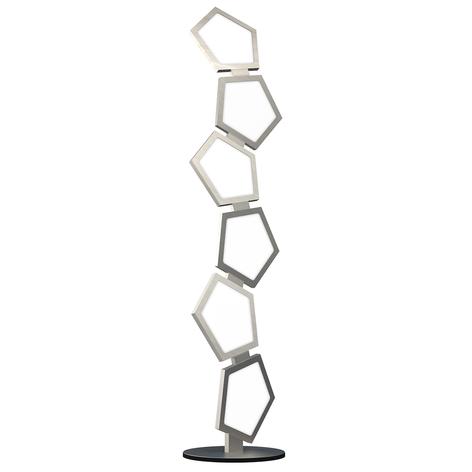 Lámpara LED de pie Poly atenuable con telemando