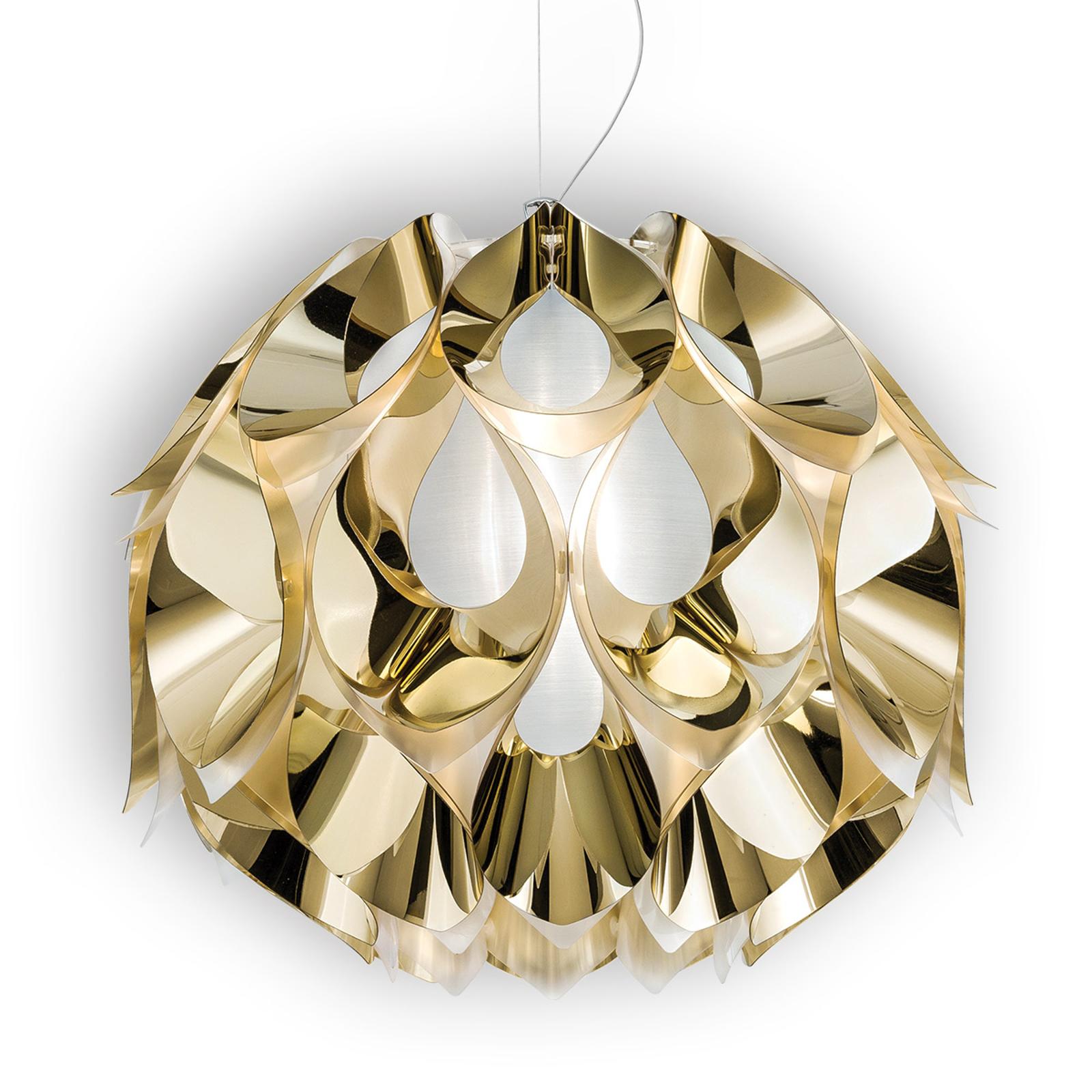 Złota lampa wisząca FLORA, 50 cm