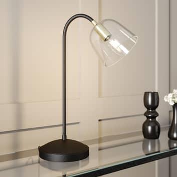 Lucande Anjita lámpara de mesa, pantalla de vidrio