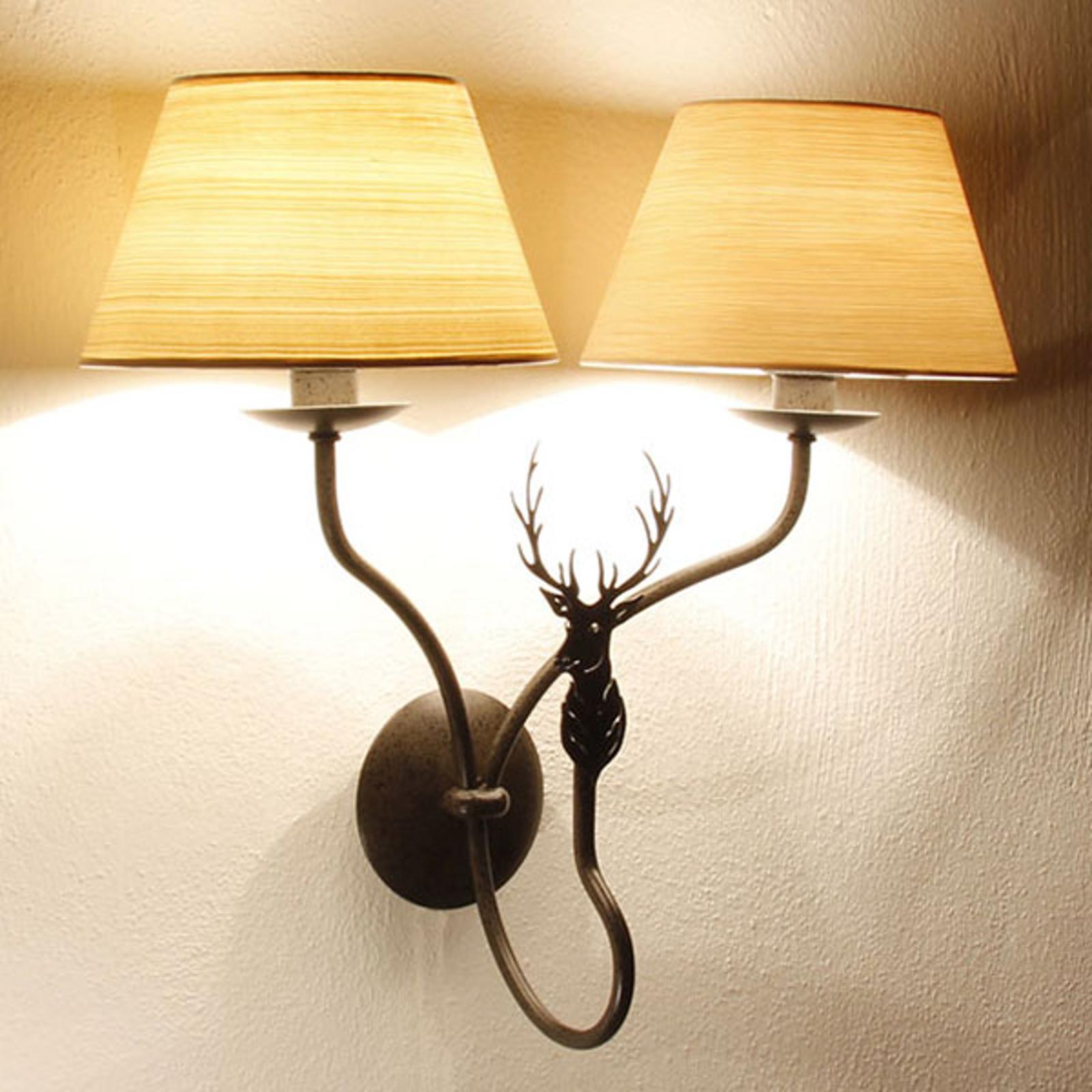 Menzel TH7362 applique à 2 lampes, motif de cerf