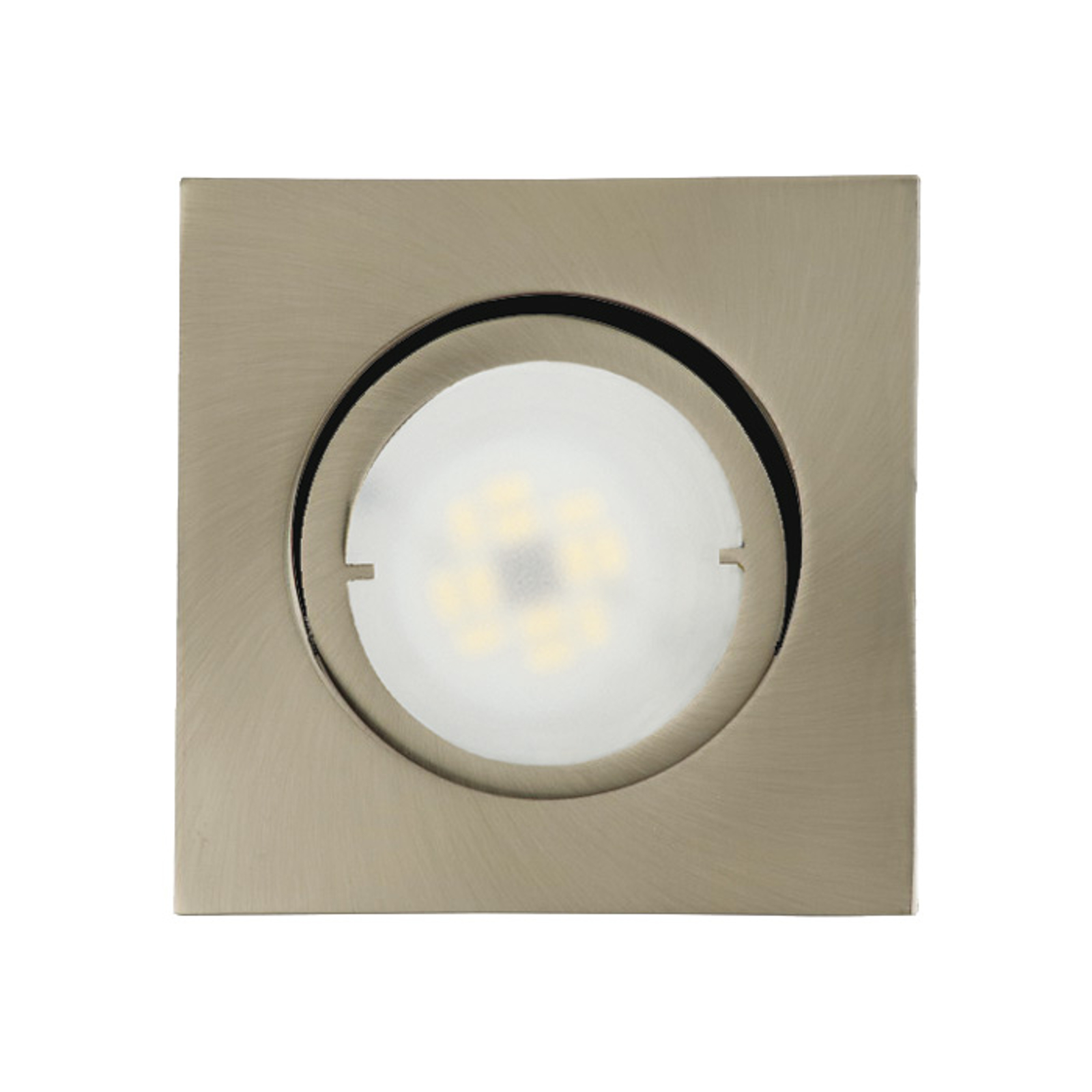 Joanie - lámpara empotrada LED, hierro cepillado
