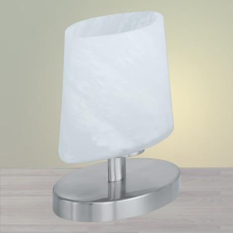 Malá stolní lampa Oval, matný nikl