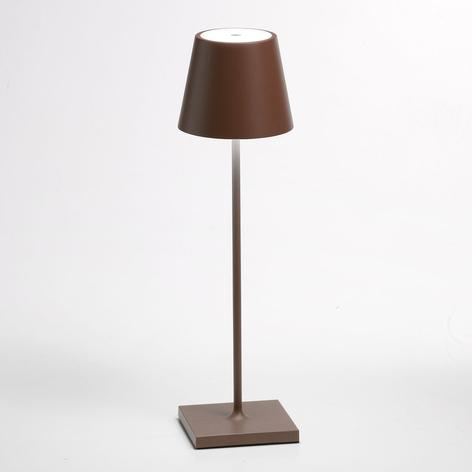 Lampe à poser LED Poldina batterie finition mate