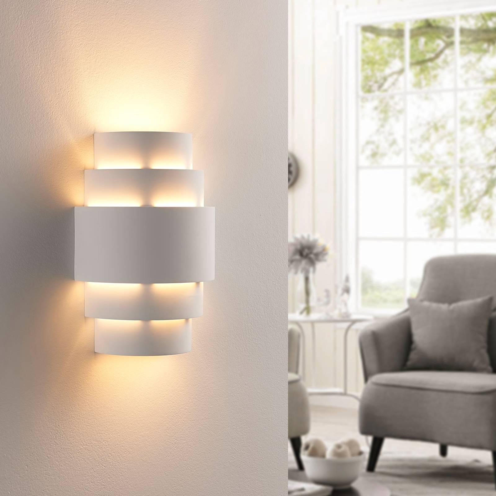 Trapvormige LED wandlamp Marit, easydim
